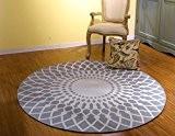 Style européen noir et blanc ronde carpet salon table basse canapé chambre coucher tapis de lit ( couleur : Gray ...