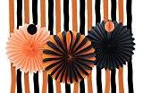 SUNBEAUTY noir orange pêche papier de soie nid d'abeille rosace fête d'halloween décoration de accrochant