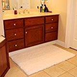 Super Doux en microfibre moelleux Tapis de salle de bain antidérapant épais Shaggy tapis de sol tapis long poils denses ...