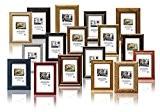 Surprise Coffret Cadeau - Set de 10 pièces cadres pour photo, cadre en bois 10x15 cm. Différentes couleurs et de ...