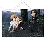Sword Art Online (SAO) - Store en tissu (Wall Scroll) vol.3 (Kirito et Asuna)