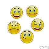 Tableau blanc Magnets Frigo 074M5Lot de 5aimants smiley 19–pour les enfants, chambre d'enfant, bureau Budget–s4kids magnétique