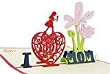 Tankerstreet 3d Pop Up Cartes de vœux, grâce aux cartes d'anniversaire Cadeau pour maman, papier craft Cartes faite à la ...