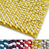 Tapis bain jaune et blanc casa pura® microfibre | antidérapant | 6 couleurs disponibles | Manta - 50x80cm
