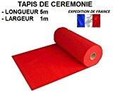 Tapis cérémonie rouge 5*1m