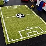 Tapis Chambre d'Enfant Tapis de Jeux Terrain De Football Vert , Dimension:80x150 cm