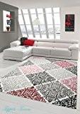 Tapis contemporain design Tapis Oriental avec Glitzergarn salon tapis avec ornements Heather Cream Beige Gris Anthracite Rose Größe 200 x ...