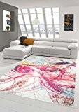 Tapis contemporain design Tapis Oriental motif tapis de salon de cercle à la crème Ror Jaune Turquoise Coloré Größe 160x230 ...