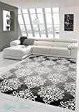 Tapis contemporain design Tapis Oriental tapis de salon avec des ornements Heather gris anthracite crème Größe 200 x 290 cm