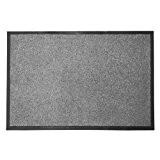 Tapis d'entrée casa pura® Mono gris | qualité élevée - lavable et absorbant | plusieurs tailles - 60x180cm