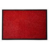 Tapis d'entrée casa pura® Mono rouge | qualité élevée - lavable et absorbant | plusieurs tailles - 60x180cm