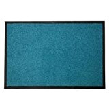 Tapis d'entrée casa pura® Mono turquoise | qualité élevée - lavable et absorbant | plusieurs tailles - 60x90cm