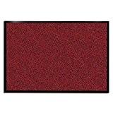 Tapis d'entrée casa pura® rouge-noir | très absorbant + lavable | plusieurs tailles au choix - 60x90cm