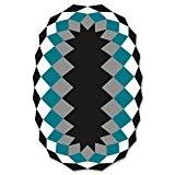 Tapis d extérieur Marquis Vondom 200 X 300 Noir Bleu Blanc Gris
