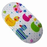 tapis de bain antidérapant tapis de baignoire antidérapant pour les bébés 71 x 38 cm (Ducks)