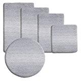 Tapis de bain casa pura® Ombre gris-blanc | ultra doux et souple | 5 tailles au choix | poil long ...