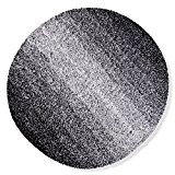 Tapis de bain casa pura® Ombre noir-blanc | ultra doux et souple | 5 tailles au choix | poil long ...