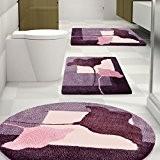 Tapis de bain Clara certifié Oeko-Tex 100 et lavable | poil très doux | plusieurs tailles au choix - 95cm ...