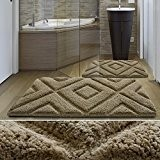 Tapis de bain de luxe casa pura® marron clair | très épais, doux, ultra absorbant et antidérapant | tailles au ...