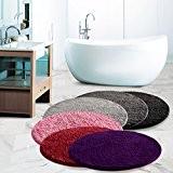 Tapis de bain en couleurs diverses | certifié Oeko-Tex 100 et lavable | diamètre 95 cm - poil très doux ...