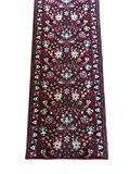 Tapis de couloir au mètre classique dessin type persan fond caoutchouc antidérapant Samur