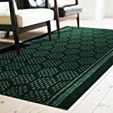 Tapis de couloir casa pura® Bilbao vert | feutre aiguilleté | cuisine, salon, couloir | haute qualité avec motif moderne ...