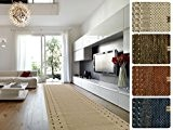 Tapis de couloir design casa pura® au metre   poil doux épais   sur mesure   Borkum, 67x300 cm, Beige