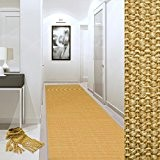 Tapis de couloir sur mesure casa pura® Sylt | tissé en fibres naturelles 100% sisal | 11 couleurs | antidérapant ...