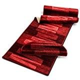 Tapis de cuisine design casa pura® rouge | dos antiderapant | compatible chauffage au sol | Veneto - 67x300cm