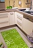 Tapis de cuisine et lavable certifié öKO-tEX 100–antidérapant-vert et 2 tailles, vert, 67x120cm