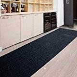Tapis de passage casa pura® MAGNUM anthracite   pour cuisine, couloir, entrée   poids du poil env. 1150 g par ...