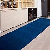 Tapis de passage casa pura® MAGNUM bleu   pour cuisine, couloir, entrée   poids du poil env. 1150 g par ...