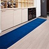 Tapis de passage casa pura® PRIMAVERA bleu | pour cuisine, couloir, entrée | poids du poil env. 1150 g par ...