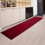 Tapis de passage casa pura® PRIMAVERA Rouge   pour cuisine, couloir, entrée   poids du poil env. 1150 g par ...