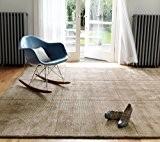Tapis de salon design moderne 100% laine Grosvenor taupe 120x180 cm