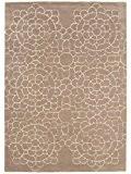 Tapis de salon moquette Carpet modern Design MATRIX CROCHET BLUMEN RUG 100% Wolle 200x300 cm rectangle Beige | Tapis acheter ...