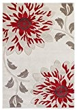 Tapis de salon moquette Carpet moderne Design VOQUE BLUME RUG 100% Polypropylene 200x290 cm rectangle Rouge | Tapis acheter en ...