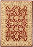 Tapis de salon moquette oriental Carpet klassisch Design AGRA CLASSIC RUG 100% Wolle 120x170 cm rectangle Rouge | Tapis acheter ...