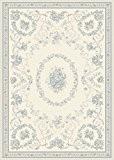 Tapis de salon moquette Oriental Carpet persan Design ECHO DAUPHIN RUG 100% Polypropylen 160x230 cm rectangle Blanc | Tapis acheter ...