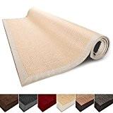 Tapis de salon nature 100% Sisal naturel casa pura® Amazonas | 8 tailles | bordure coton | dos latex antidérapant ...