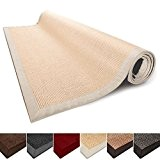 Tapis de salon nature 100% Sisal naturel casa pura® Amazonas | 8 tailles | bordure coton | dos latex antidérapant ...