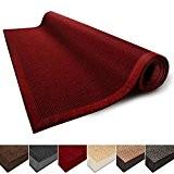 Tapis de salon rouge 100% Sisal naturel casa pura® Amazonas | 3 tailles | bordure coton | dos latex antidérapant ...