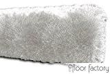 Tapis de salon Satin blanc 120x170 cm - tapis shaggy longues mèches