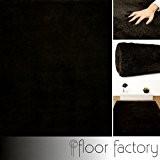 Tapis de salon ultra doux Privilège marron 160x230 cm - tapis shaggy longues mèches microfibre