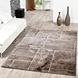 Tapis de sol design sol en marbre, tapis de salon moderne marron, marron, 120 x 170 cm