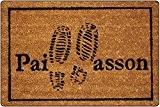 Tapis Déco Paillasson Imprimé Pas Coco/PVC Imprimé 60 x 40 cm