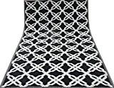 Tapis décoratif en polypropylène motif géométrique noir blanc pique-nique tapis de sol de plage grand tapis chiffon 6 x 4 ...
