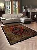 Tapis Élégant Salon Tapis Retro Classic Oriental–schadstofffrei–Marron Rouge Orange, Polypropylène, marron, 160 x 230 cm