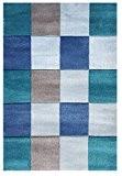 Tapis enfants Happy Rugs CARREAUX bleu 120x180 cm