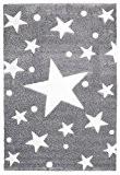 Tapis enfants Happy Rugs ÉTOILES gris/blanc 80x150 cm